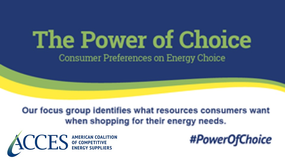 The Power of Choice: Consumer Preferences on Energy Choice Focus Group